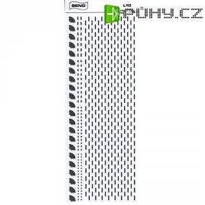 Značky pro plošné spoje SENO, oblouky a krátké čáry, tloušťka 1 mm, černá