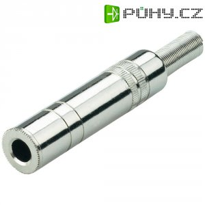 Kabelový konektor jack (F) 6,3 mm, kovový