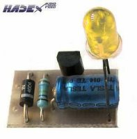 Indikátor 230V AC LED žlutá STAVEBNICE