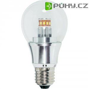 LED žárovka Renkforce E27, 5,5 W = 40 W, čirá, teplá bílá