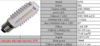 Žárovka LED E27-66x,bílá,230V/3,5W