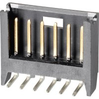 Kolíková lišta MOD II TE Connectivity 280523-2, úhlová, 2,54 mm, černá