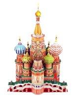 Puzzle 3D chrám Vasila Blaženého - velký model 173 dílů, papírové