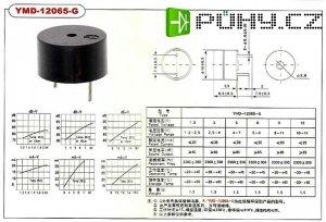 Piezobzučák 12mm,napájení 4-7V/32mA