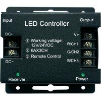 LED kontrolér s dotykovým bezdrátovým ovladačem, 12/24 V/DC, RGB, 432 W