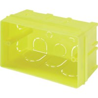 Krabička pod omítku 662, 52 x 60 x 100 mm, žlutá