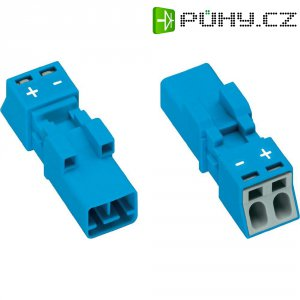 Síťová zástrčka Wago Winsta Mini, 250 V, 16 A, 2pólová, modrá, 890-1112