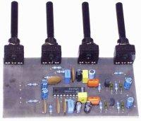 Korekční zesilovač stereo s LM 1036