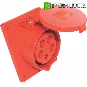CEE zásuvka 415-6tt PCE, šikmá, 16 A, IP44, červená