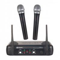 Skytec mikrofonní set VHF, 2 kanálový, 2x ruční mikrofon