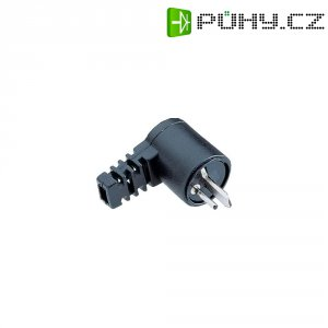 Konektor reproduktoru 2pól. BKL 205023, zástrčka úhlová, 2pól., 2 ks, černá