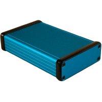 Univerzální pouzdro hliníkové Hammond Electronics, (d x š x v) 120 x 78 x 27 mm, modrá