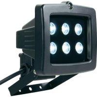 Venkovní LED reflektor, 6x 1 W , studená bílá