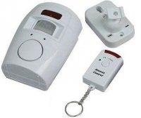 Nástěnný alarm s PIR čidlem a dálkovým ovládáním (1x vysílač) DOPRODEJ