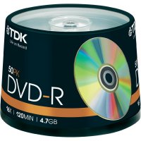TDK DVD-R 4,7GB 16X 50 ks cake box