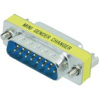 Adaptér D-SUB Amphenol, 15pólový, zásuvka/zásuvka, žlutá