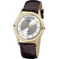 Ručičkové náramkové hodinky Regent F-355 Quartz, pánské, kožený pásek