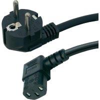Síťový kabel s IEC zásuvkou Hawa, 1008236, 2 m, černá