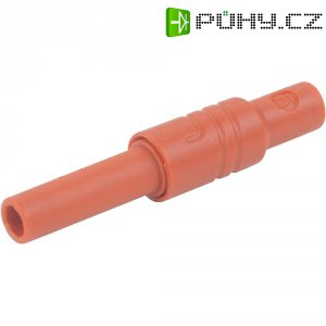 Bezpečnostní zásuvka SKS Hirschmann 934096101, rovná, Ø 4 mm, červená