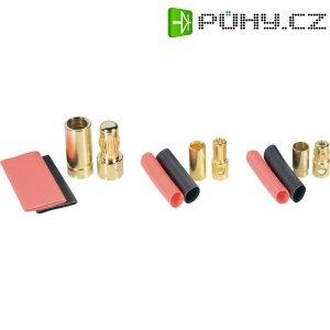 Kontakt 8 mm Modelcraft, zástrčka a zásuvka, zlacený, 1 pár