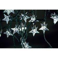 Venkovní vánoční mini řetěz Konstsmide, 40 LED hvězdiček, teplá bílá