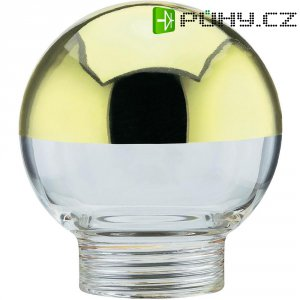 Stínítko pro žárovku, skleněné, kulatý tvar, zlaté