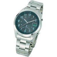 Ručičkové náramkové DCF hodinky Multiband, kovový pásek, solární, stříbrná