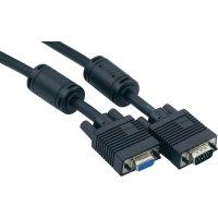VGA kabel, zástrčka/zásuvka, černý, 5 m