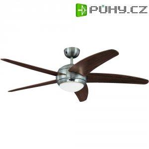 Stropní ventilátor Westinghouse Bendan, 5 lopatek, Ø 132 cm, hnědá/hliník
