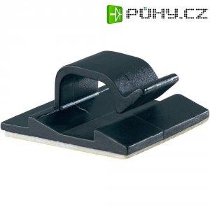 Klip k uchycení kabelů PB Fastener 5433-SW 5433-SW, samolepicí, 8 mm (max), černá, 1 ks