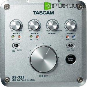 Externí USB zvuková karta Tascam US-322