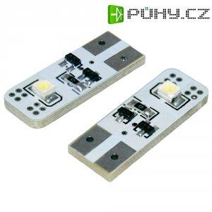 SMD LED sufitka Eufab, 13297, 0,7 W, W2.1x9.5d, 26 mm, bílá, 2 ks