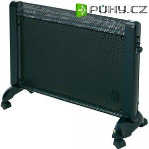 Přenosné topení, 800/1200/2000 W, IPX4, černá