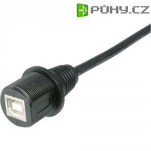 USB 2.0 vestavná zásuvka ASSMANN WSW A-KAB-USBB-FS-1M, IP67, Typ B, 1 m