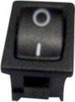 Kolébkový spínač SCI R13-66E-02 bez aretace 250 V/AC, 6 A, 1x zap/(vyp), černá, 1 ks