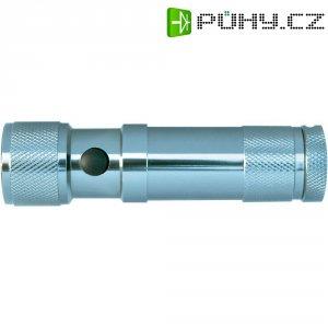 Kapesní svítilna LED s laserovým ukazovátkem, hliníková