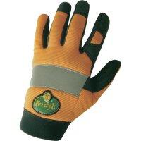 Pracovní rukavice CLARINOR - syntetická kůže, velikost XL (10), oranžové
