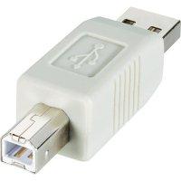 Adaptér USB 2.0, A/B, béžový