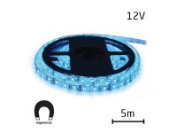 LED pásek 12V 5050 60LED/m IP20 max. 14.4W/m modrá, magnetický (1ks=cívka 5m)