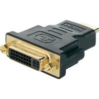 HDMI / DVI adaptér Renkforce RF-2959353, [1x HDMI zástrčka - 1x DVI zásuvka 24+5pólová], černá