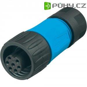 Kabelová zásuvka 6+PE Amphenol C016 10D006 010 10, 250 V, 10 A, černá/modrá
