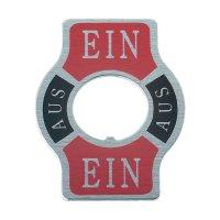 Štítek pro páčkové přepínače SCI, potisk EIN/AUS/EIN