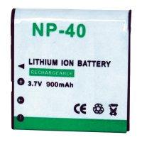 Baterie Conrad pro fotoaparáty CASIO NP-40, 900 mAh