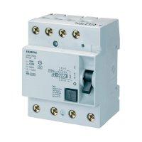Proudový chránič A Siemens, 40 A, 4pólový, 5SM36446