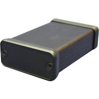Hliníkové pouzdro 1455 Hammond Electronics 1455J1601BK, 162 x 78 x 27 , černá