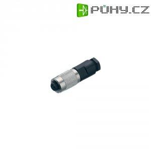 Kulatý konektor submin. Binder 712 (99-0426-00-08), 8pól., kab. zásuvka, 0,14 mm², IP67