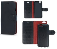 Pouzdro pro mobil Huawei P9 Lite, silikon + knížka 2v1 - černé