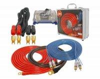 Napájecí a signál.kabely k autozesilovači v kufříku LTC