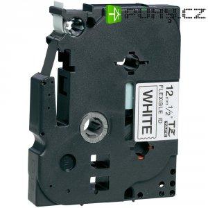 Páska do štítkovače Brother TZe-FX231, 12 mm, TZe-FX, TZ-FX, 8 m, černá/bílá