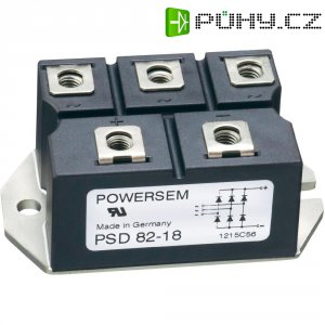 Můstkový usměrňovač 3fázový POWERSEM PSD 82-16, U(RRM) 1600 V